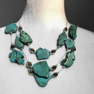 Turquoise Illusion Necklace Lobster Clasp